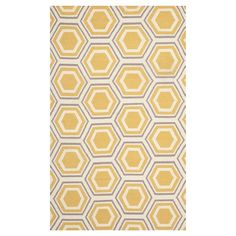 Ivory/Yellow Abstract Woven Area Rug - (6'x9') - Safavieh, White