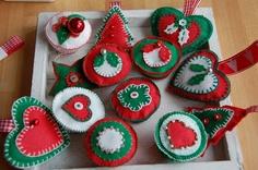 knutsels van zolder: kerst vilt en hartjes