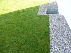 Bordures nettes gravillons /pelouse