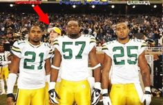 Aaron Rodgers has photobombed a picture at every football game he has attended! - Sports - Interesting Facts and Fun Facts - OMG Facts
