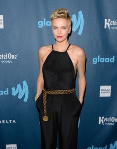 Charlize Theron in Jason Wu jumpsuit from the Pre Fall 2013 collection at the 24th Annual GLAAD Media Awards