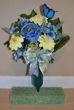 Hydrangea Cemetery Flowers Headstone Vase Tombstone Grave Memorial Arrangement