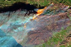Smoke and Fire in Southern California : Image of the Day : NASA Earth Observatory