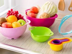 Brand high quality mother day gift 8 piece in one set Multicolor creative kitchenware set kitchen Bowl set kitchen tool Rustic Country Kitchens, Country Kitchen Designs, Kitchenware Set, Yellow Bowls, Red Bowl, L Shaped Kitchen, New Kitchen Cabinets, Functional Kitchen, Mixing Bowls