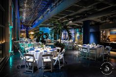 Jason & Lee's wedding at the South Carolina Aquarium. Wedding design by Duvall Events and photography by David Strauss Photography.