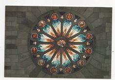 Christ Church Cathedral Nelson Rose Window Postcard