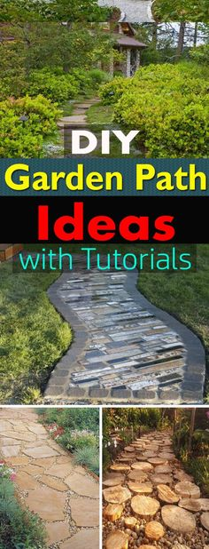 19 DIY Garden Path Ideas With Tutorials