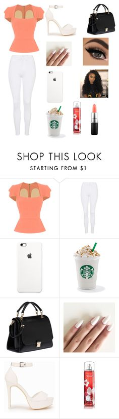 """Peach"" by erikafaith-ew ❤ liked on Polyvore featuring Roland Mouret, Topshop, Miu Miu, Nly Shoes and MAC Cosmetics"