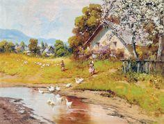 Beautiful Paintings, Landscape, World, Drawings, Master Art, Hungary, Paintings, Art, Scenery