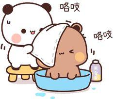 Panda Gif, Panda Bear, Cute Cartoon Pictures, Cute Pictures, Mochi, Cute Anime Cat, Belated Birthday Wishes, Bear Gif, Cute Bear Drawings