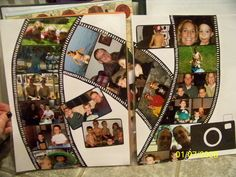 Camera strip scrapbook