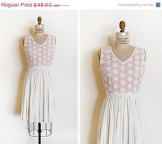25% OFF SALE vintage 1960s dress / 1960s crochet by cutxpaste.  too small, but i heart it!