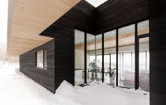 En naturlig del av det karga landskapet av Chevalier Morales, #arkitektur i #trä