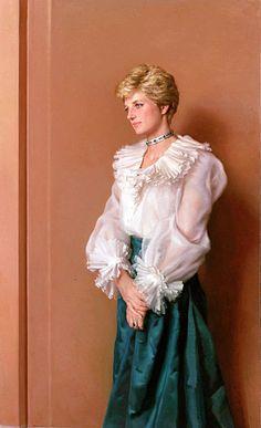 DIANA SPENCER (1961-1997), Princess of Wales  Portrait: Nelson Shanks