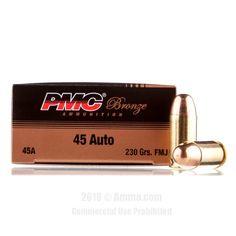PMC 45 Auto Ammo - 1000 Rounds of 230 Grain FMJ Ammunition #PMC #PMCAmmo #45AutoAmmo #45ACP #FMJ