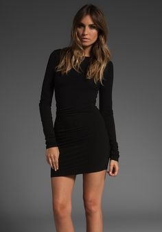 One Shoulder Long Sleeved Short Dress at PromGirl.com | Yeahwoo ...