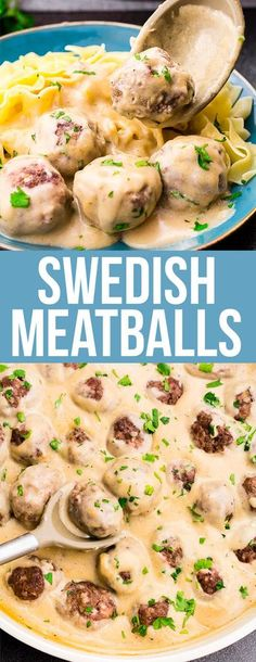Swedish Meatballs, the creamy gravy is fabulous, but the meatballs are full of flavor and would be amazing alone as well! A new family favorite! #meatballs #swedishmeatballs #beefdinner #weeknightdinner #easydinner