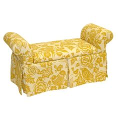 How cute is this!!!!!!!!!!!! Canary Storage Bench in Maize from Joss & Main!