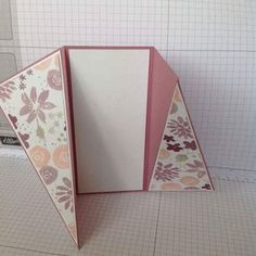 Hi as requested here& a short photo tutorial on how to make the twisted gate fold card that I showcased on Friday the of August. I hope. Card Making Templates, Card Making Tutorials, Card Making Techniques, Fancy Fold Cards, Folded Cards, Tarjetas Pop Up, Karten Diy, Step Cards, Making Greeting Cards