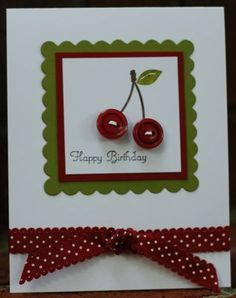 A Cherry on top! by marmie43gs - Cards and Paper Crafts at Splitcoaststampers