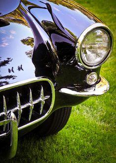 Classic Automobile Art: 1956 Chevrolet Corvette