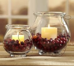 Cranberry Vase Filler #potterybarn