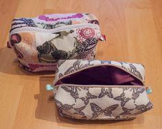 Ruck zuck diese hübsche Kosmetik-Tasche genäht :-)