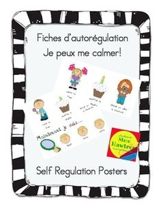 Fiches d'autorégulation Je peux me calmer! - Self Regulati Calm Down Corner, Need A Break, Youth Activities, Feeling Stressed, Help Teaching, Positivity, Posters, Student, Child