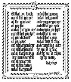 pink+floyd+lyrics | Pink Floyd, Eclipse