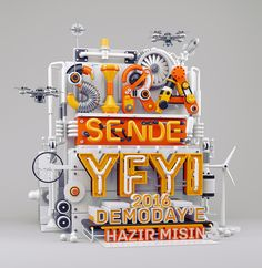 YFYI Campaign 2016 (It& your turn!) for Imalathane Turkey Web Design, Print Design, Graphic Design, 3d Typography, Lettering, 3d Modellierung, Ri Happy, 3d Poster, Posters