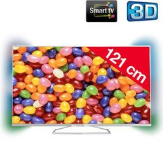 "Buy PHILIPS 48PFS6609 - 48"" - 3D LED TV - Smart TV on Pixmania. This TV from Philips has Ambilight and 3D Active technology for images that are bright and contrasted.  It has an ultra slim frame that  630.00"