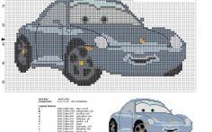 Sally Carrera Disney Cars character cross stitch pattern