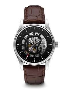 Authentic Caravelle New York 43A123 Men's Watch Skeleton Grey Cutout Dial  Automatic 87dfefff5bb5