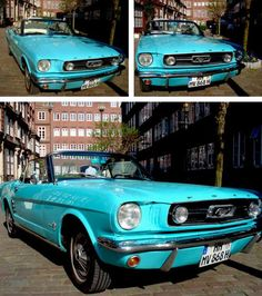 Penelope's dream car, a fully restored 1965 Mustang convertible...so cute!!