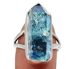 Aqua Aura Quartz 925 Sterling Silver Ring Jewelry s.7 RR28835 | eBay