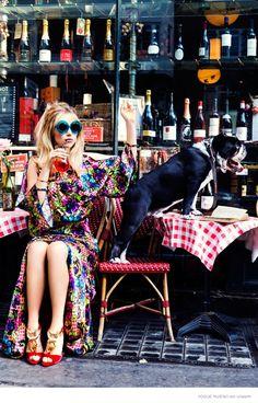 Suki Waterhouse is a Blonde Bombshell in Ellen von Unwerth Story for Vogue Russia
