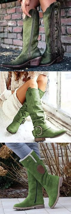 2020 Hot Selling Boots.Free Shipping Over $79.Shop Now! Cute Boots, Watercolour Tutorials, Green Shoes, New Wardrobe, Walk On, Western Wear, Shirt Blouses, Cowboy Boots, Style Me