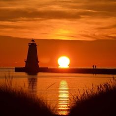 Have you ever been to Ludington, MI? We love how this fan photo captured the lighthouse and the setting sun
