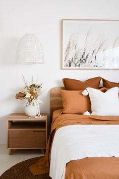 Textures and colours mimic those that you would find within the natural environment. The collection injects depth and variance through texture, whilst the natural colour palate creates a sense of calm to any room. House And Home Magazine, Home Decor Bedroom, Bedroom Ideas, Bedroom Inspo, Bedroom Decor Natural, Bedroom Designs, Natural Bedding, Earthy Bedroom, Simple Bedroom Decor