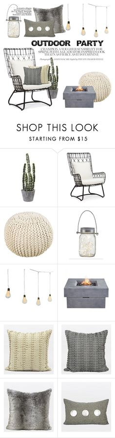 """""""Outdoor party"""" by gentillehome on Polyvore featuring interior, interiors, interior design, home, home decor, interior decorating, Palecek, Surya and Zuo"""
