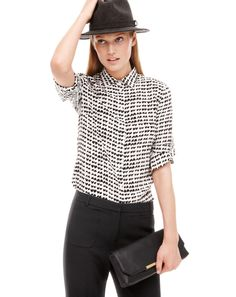 J.Crew silk boy blouse in tossed hearts.