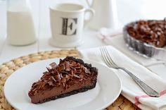 Tarta fina de chocolate