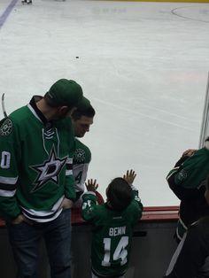 When you meet your fav player #JamieBenn #DallasStars