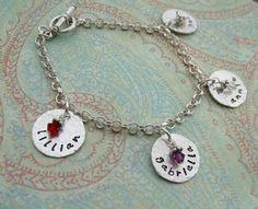 Personalized Charm Bracelet - Hand Stamped Bracelet -