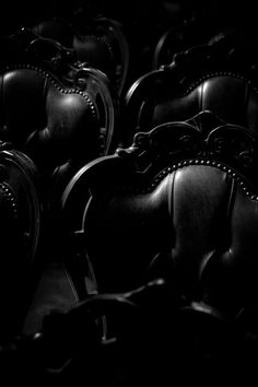 Black chairs - maybe in some spooky, dark place. I love them anyway.