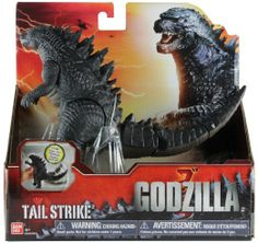 Here is the fun new Godzilla Tail Strike action figure from Bandai. This detailed figure stands about 10 inches tall with a circular contro. Godzilla Figures, Godzilla Toys, Jurassic World, Jurassic Park, Godzilla 2014 Movie, Monster Pictures, Legendary Pictures, Spiderman, Monster Toys
