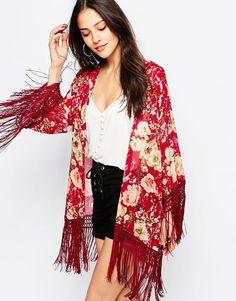 Jessica+Wright+Suzie+Floral+Tassle+Kimono