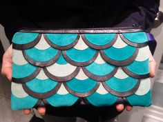 A turquoise version of the fish scales design (sold)