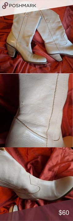 """Jessica Simpson boots Cream leather. Very good condition. Very cute Jessica Simpson """"Daisy"""" cowgirl boots. These look good with anything. Jessica Simpson Shoes Heeled Boots"""