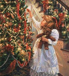 Decorate the Home with Victorian Christmas Decorations Christmas Scenes, Merry Little Christmas, Noel Christmas, Christmas Pictures, Christmas Ornaments, Hanging Ornaments, Christmas Crafts, Christmas 2019, Christmas Houses